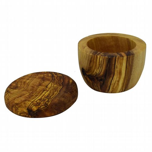 Rustic Olive Wood - Pinch Pot With Lid